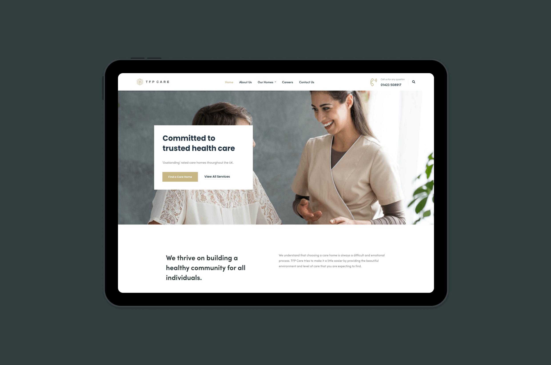 website design for care homes