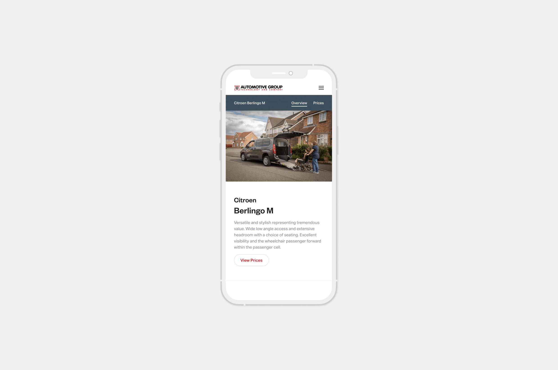 car dealer website design mobile