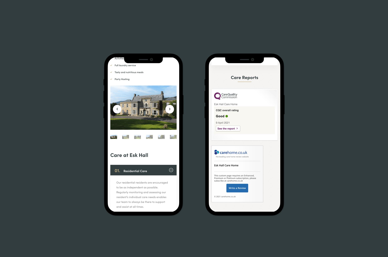 care home mobile design