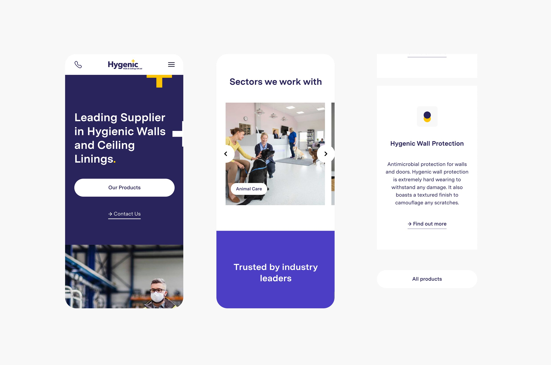 wall cladding website design mobile