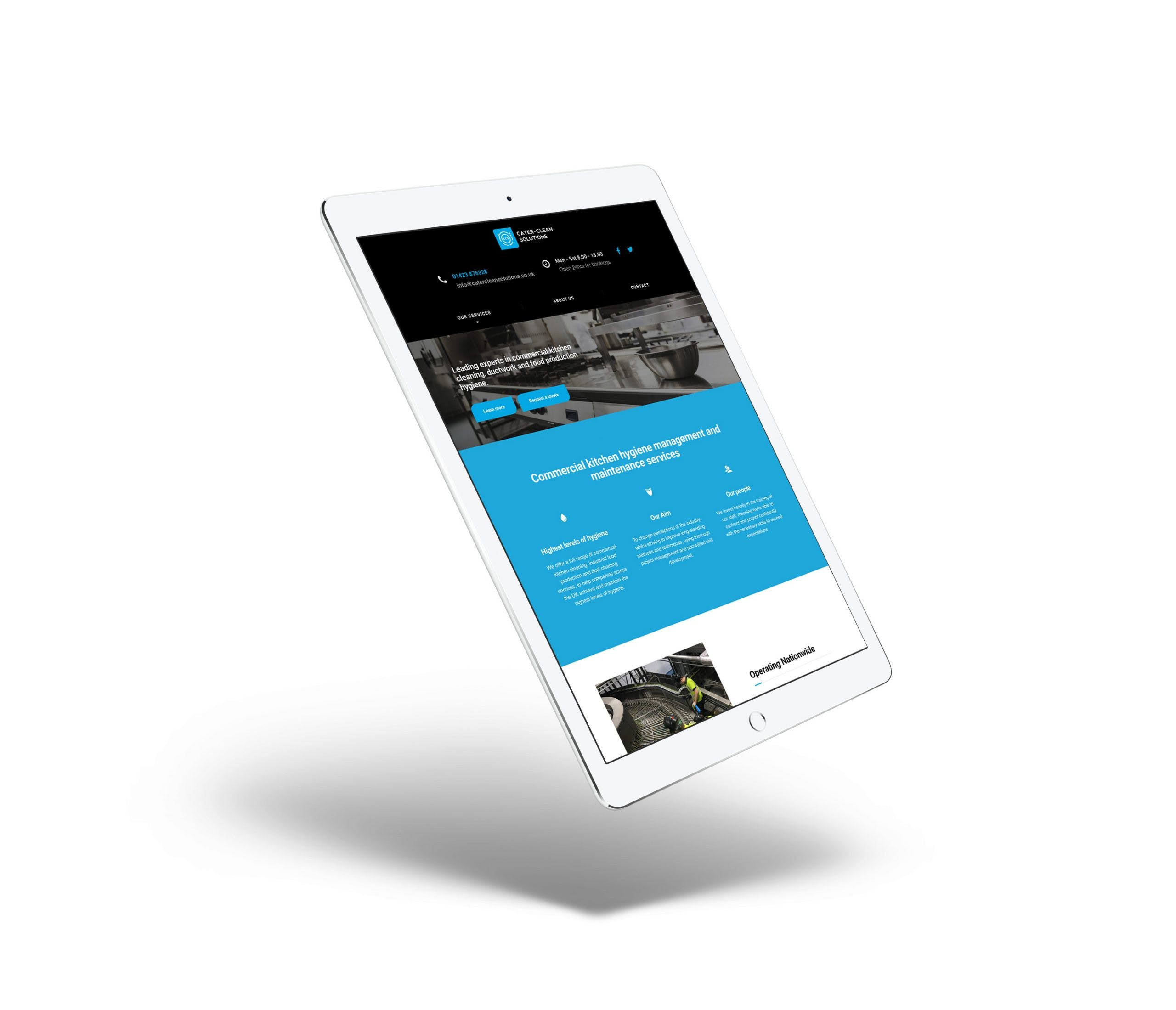 cleaning business website design
