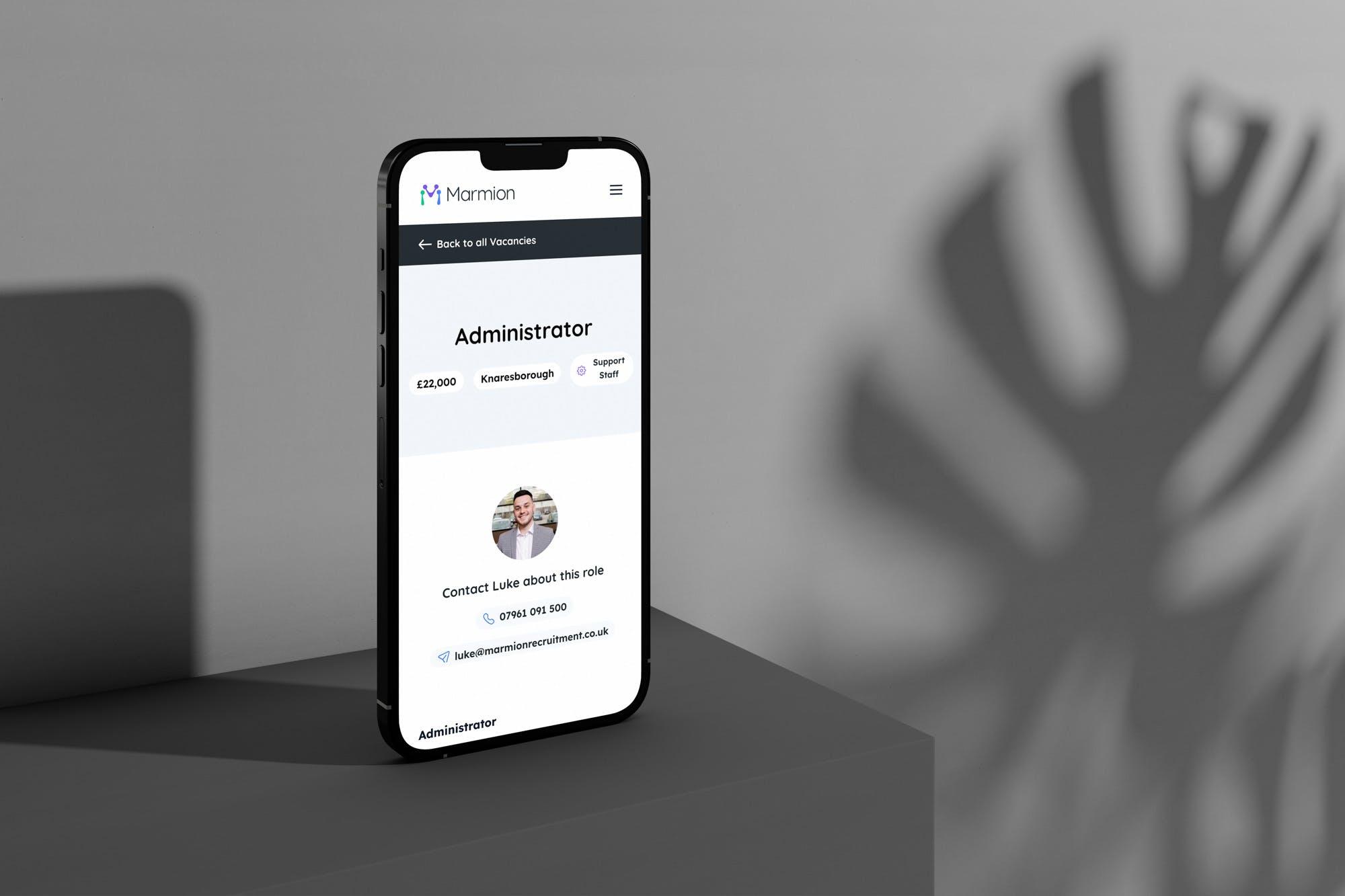 recruitment website design mobile