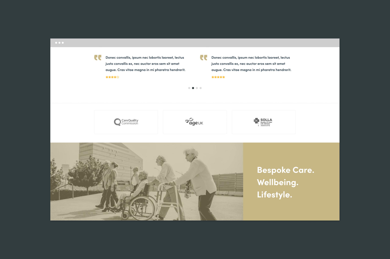 care home website designers