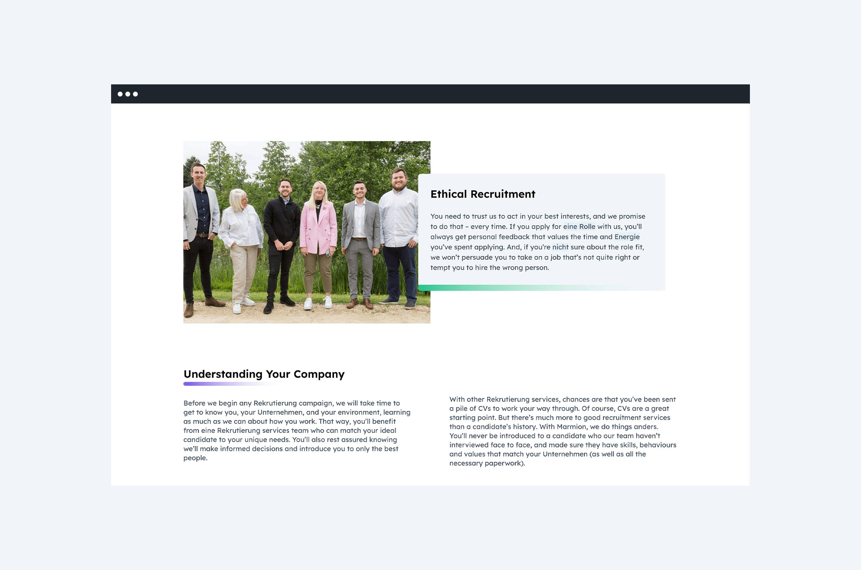 website design for recruitment company