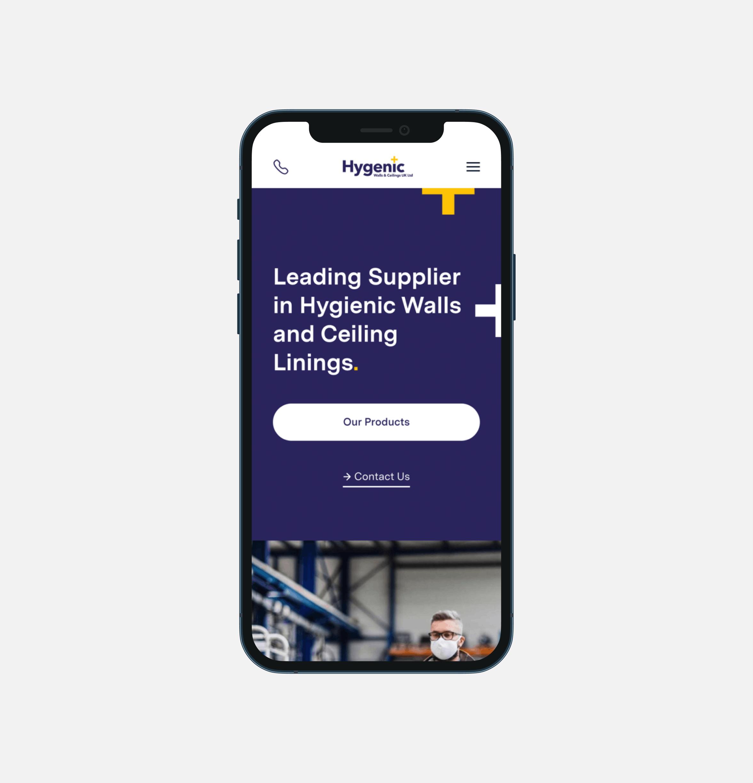 hygenic mobile website design