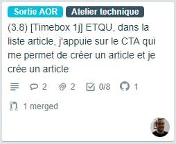Scrum : ticket timeboxé