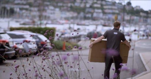 Forbes Professional Engineer Carrying Samsung TV - Dart Marina Hotel, Devon, Dartmouth