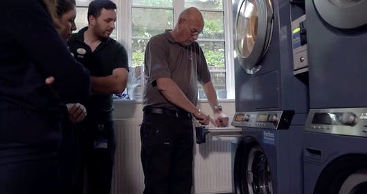 Forbes Professional Checking Commercial Stacked Washer Dryers