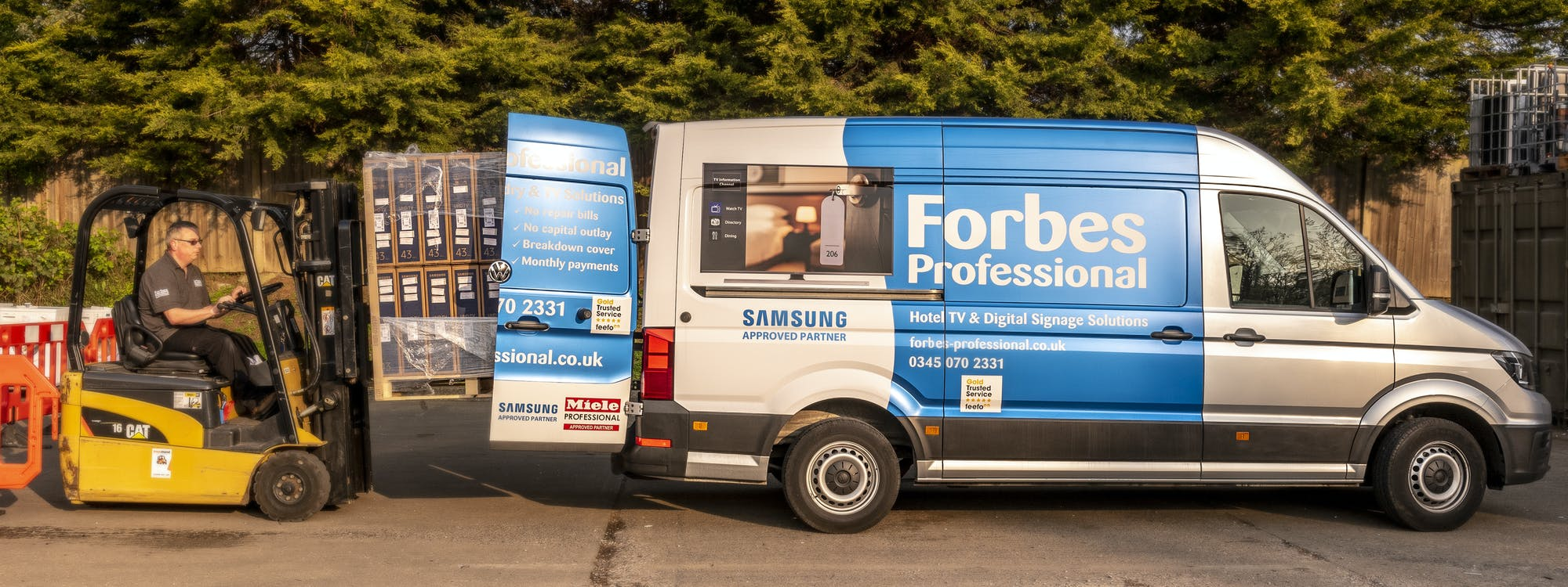 Forbes Professional Van Being Loaded