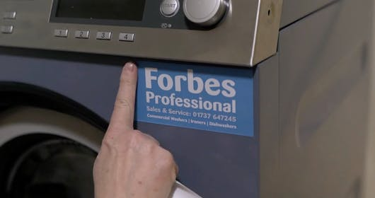 Commercial Washing Machine With Forbes Professional Contact details for Sales & Service: 01737 647 245