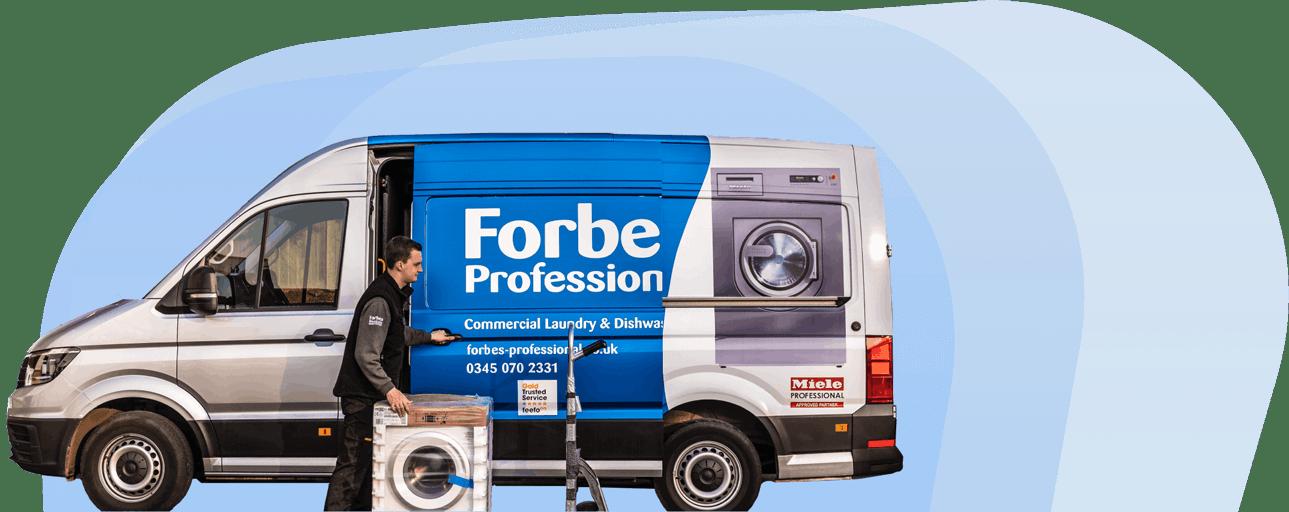 Forbes Professional Van With Engineer Opening Door