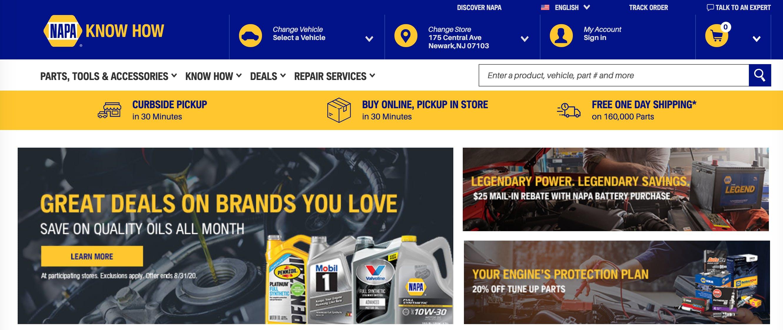 napaonline website auto parts