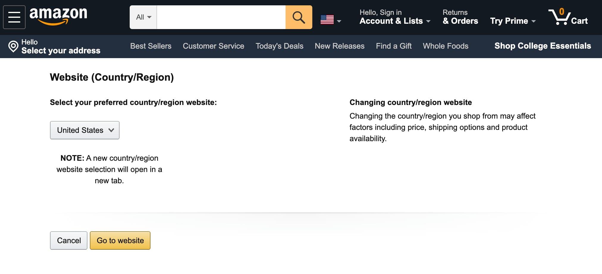 buy from Amazon US