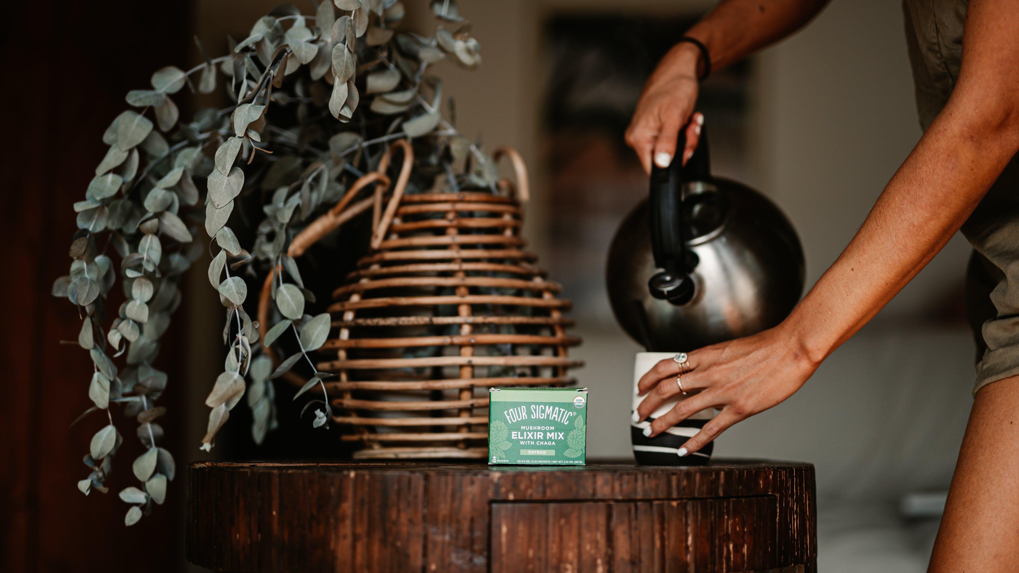 Chelsea Kauai using Chaga Elixir in Hawaii