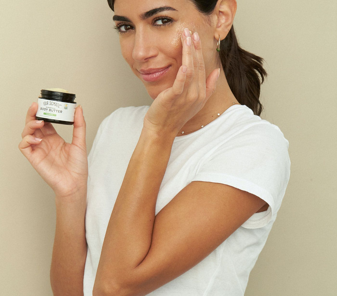 Body Butter being used