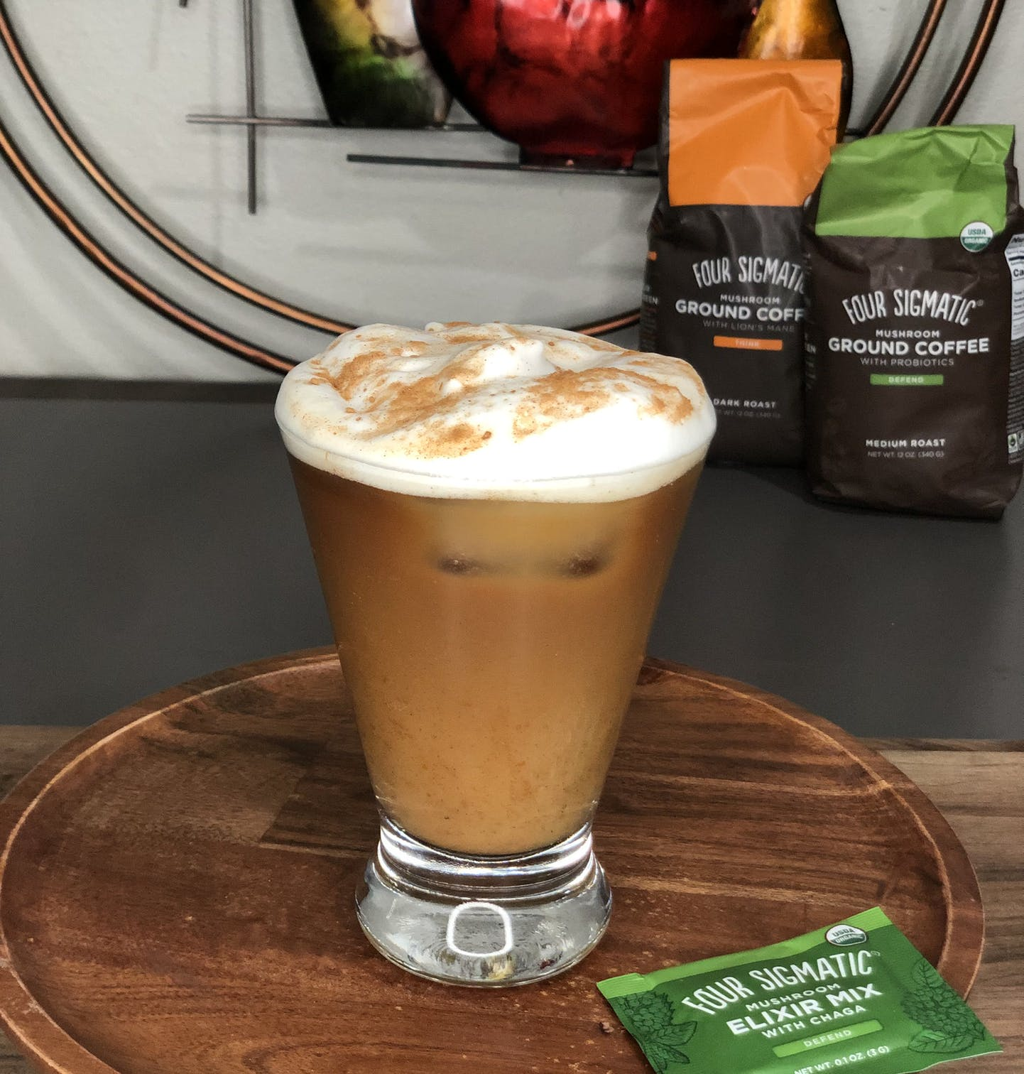 pumpkin sauna latte
