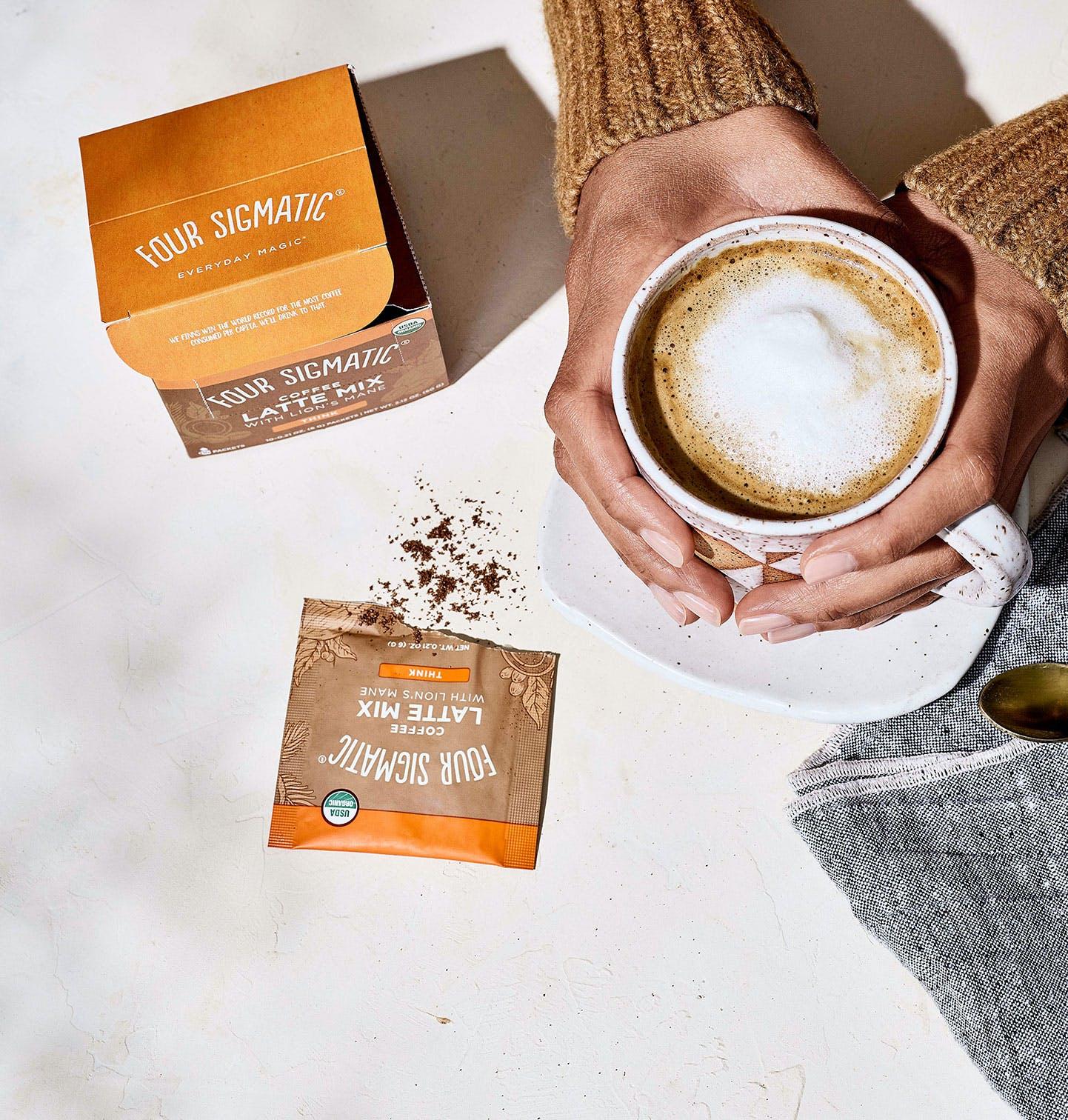 Mushroom Coffee latte drink