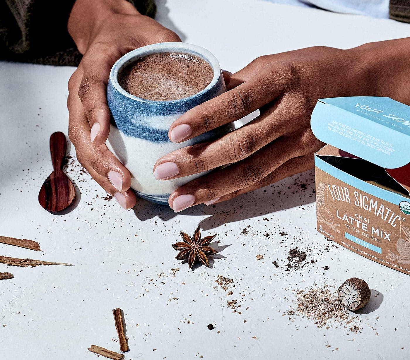 Mushroom Chai Latte Drink