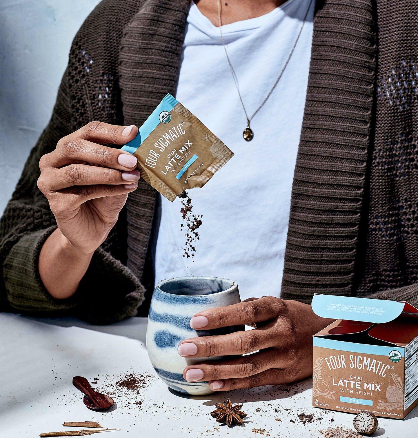Mushroom Chai Latte Packet