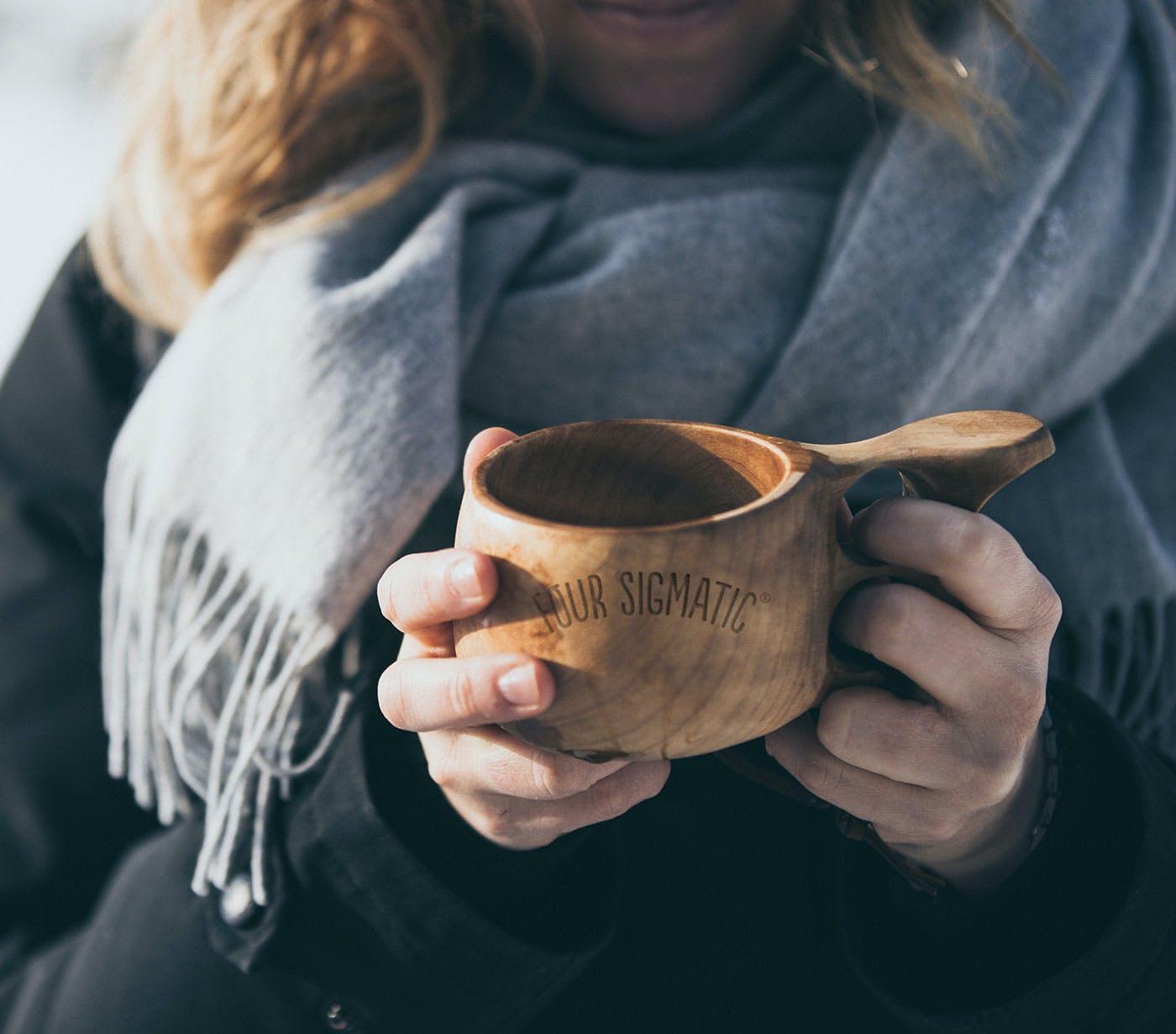 Holding Kuksa Mug