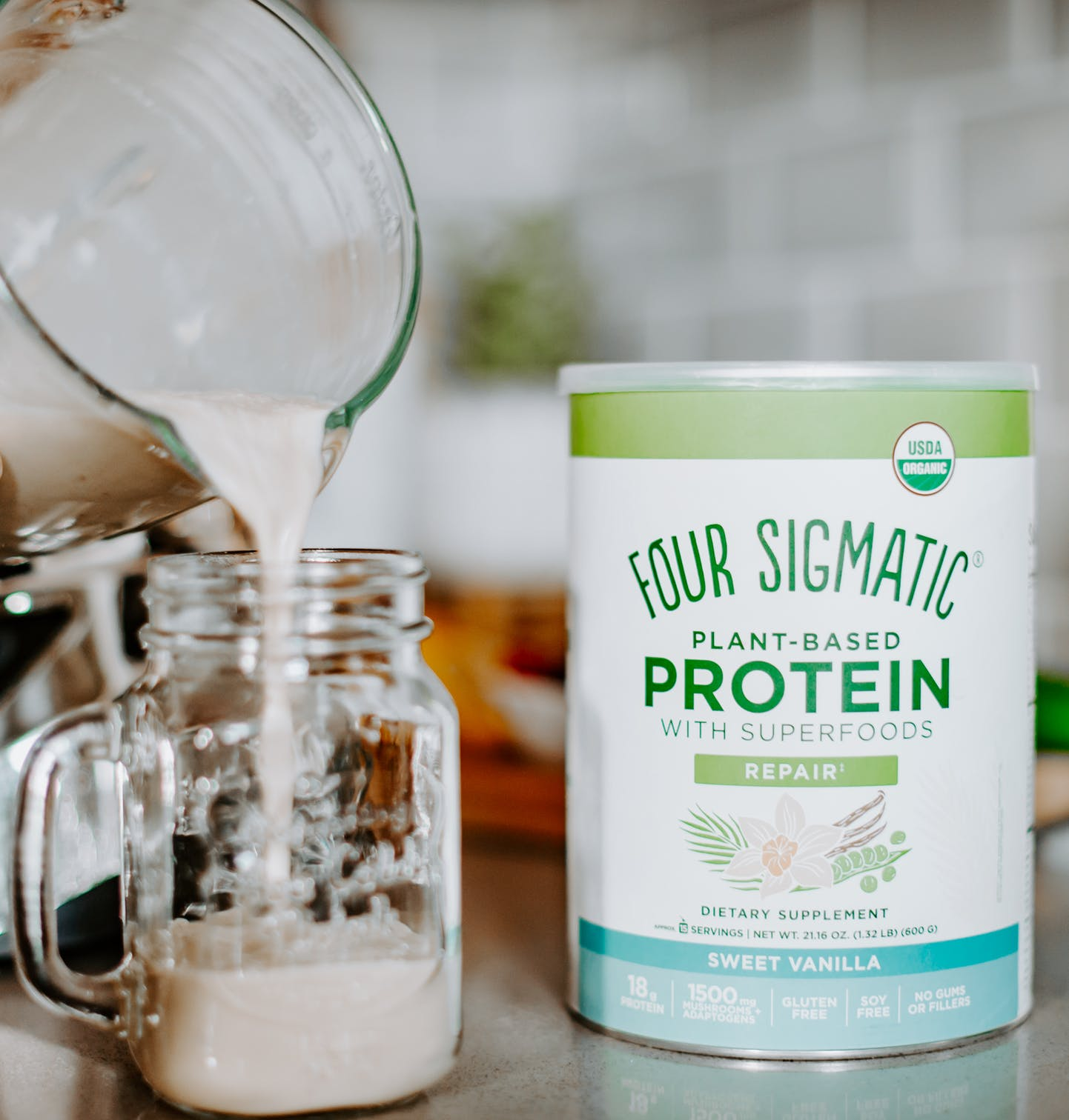 sweet vanilla protein canister