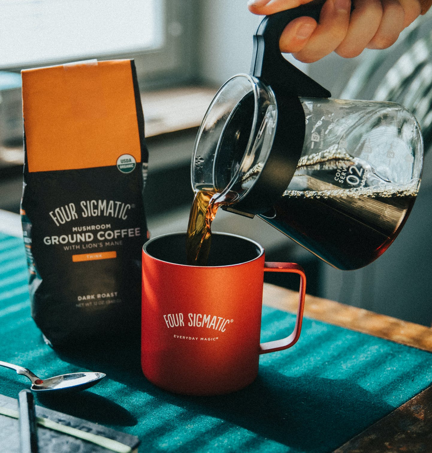 Ground coffee Lion's mane