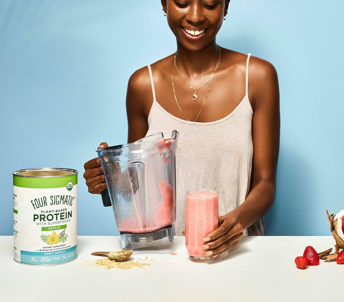 sweet vanilla protein smoothie
