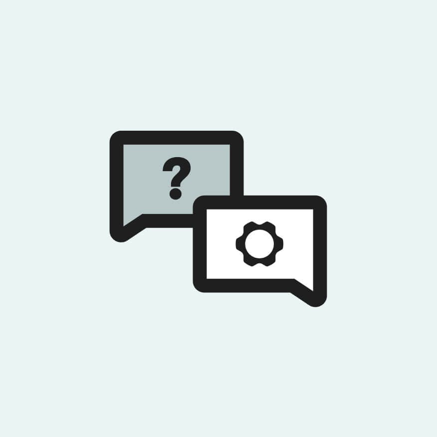 Knowledge Base chat balloon icons