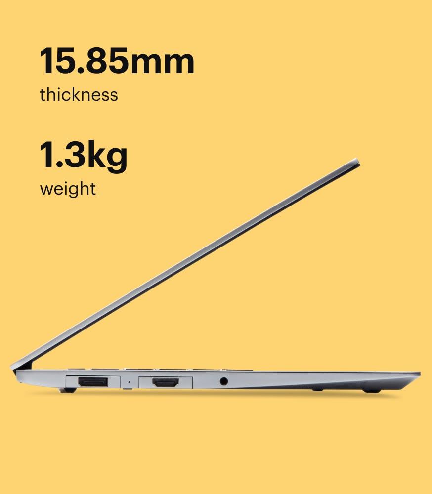 Side angle of the Framework Laptop