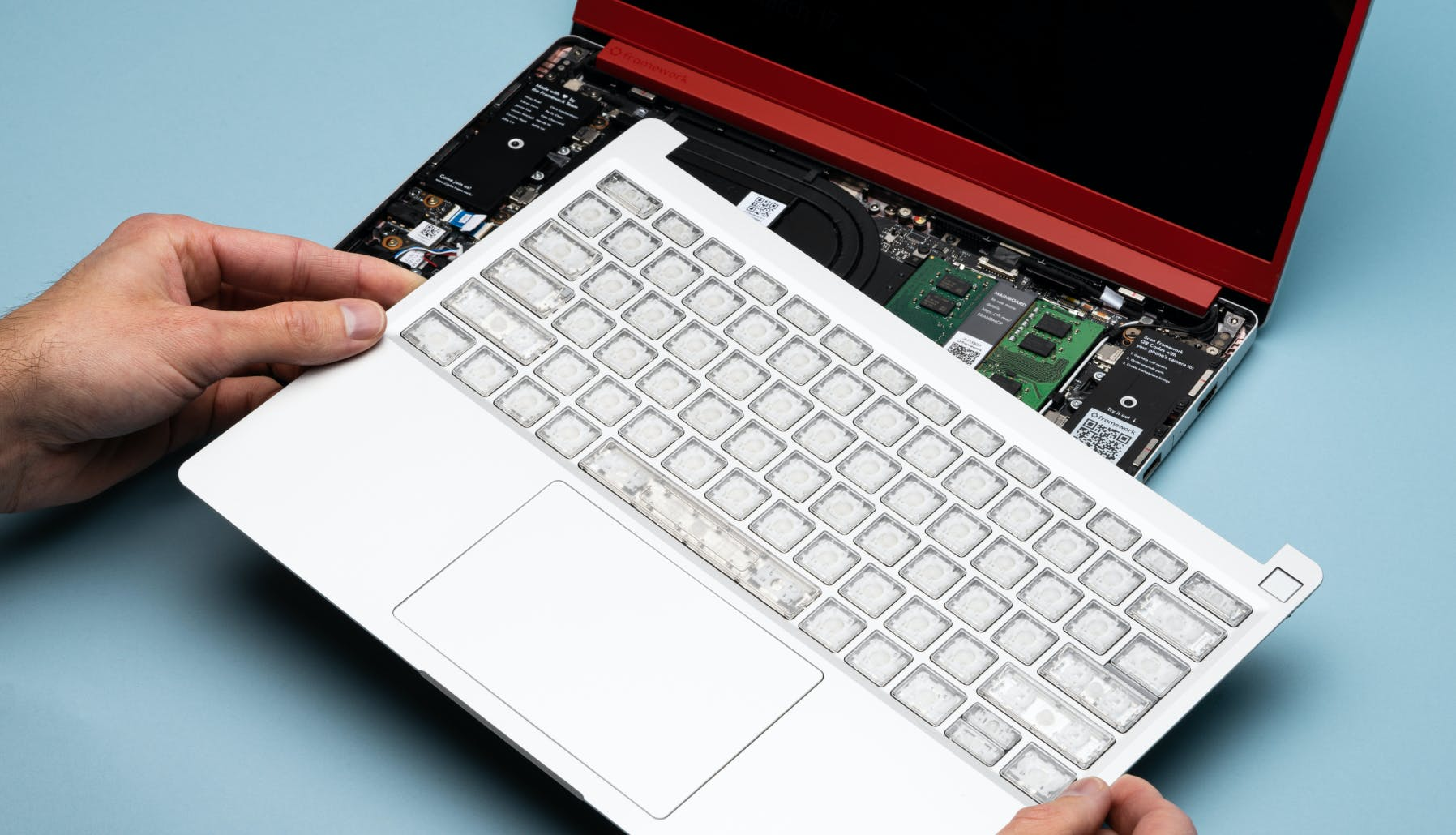 taking off the c cover from a laptop