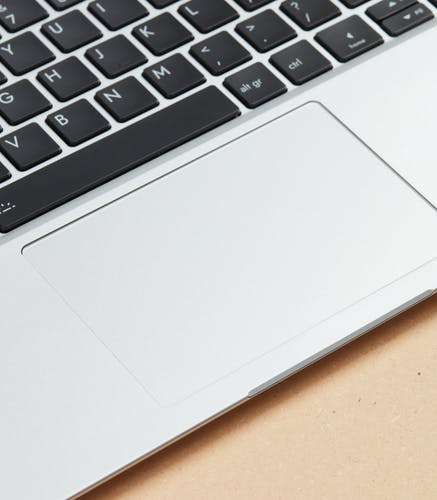 Side angle of trackpad