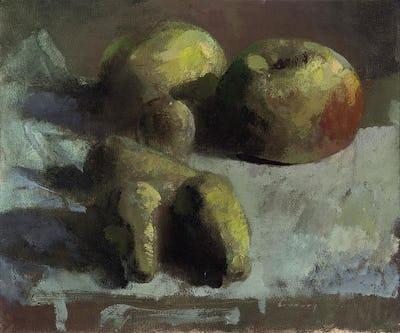 "Apples, 10"" × 12"""