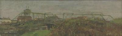 Swing Bridge, Littlehampton, National Museum Wales Collection