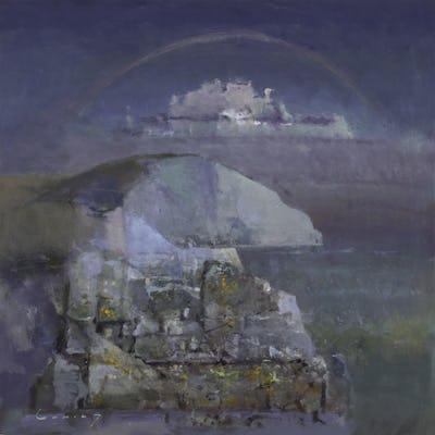"Tennyson Down Rainbow, 1989, 36"" × 36"""