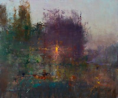 """Evening Garden, 20"""" x 24"""""""