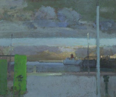 Folkestone Harbour, Rainclouds, Evening, St John's College, University of Cambridge Collection