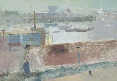 "Folkestone Harbour, 8"" × 11"""