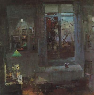 "Window, April Evening, 1994, 36"" × 36"""