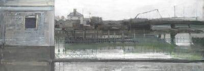 "River Arun at Littlehampton, 9"" × 25"""