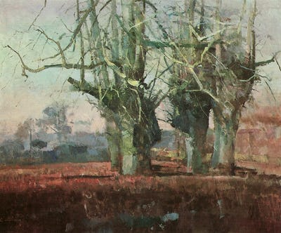 """March Trees, 1991, 47"""" × 59"""""""