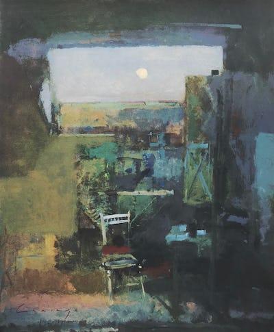 Studio, Evening Moonrise, 2012, Image and paper size: 46.5 x 38.5 cm