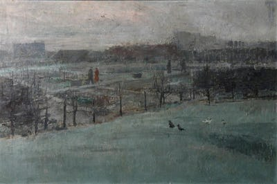 Landscape (Allotments), c1950, Royal College of Art Collection