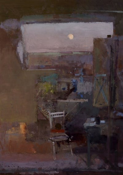Studio Evening Moonrise, Royal Collection Trust