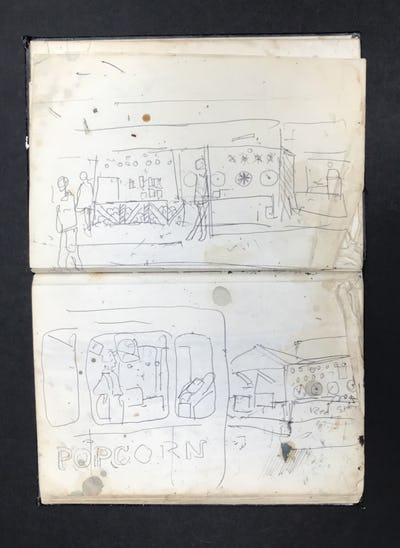 Fairground and Popcorn Stall, Two Studies