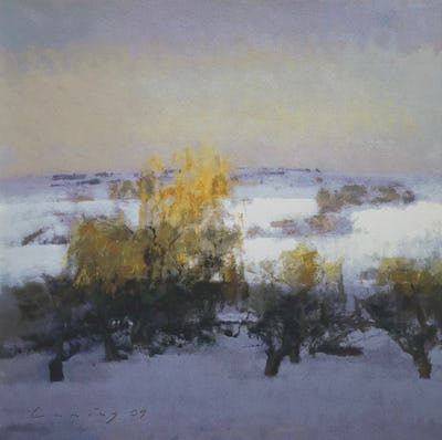 Winter Landscape, Willows, 2010, Image and paper size: 42.5 x 42.5 cm