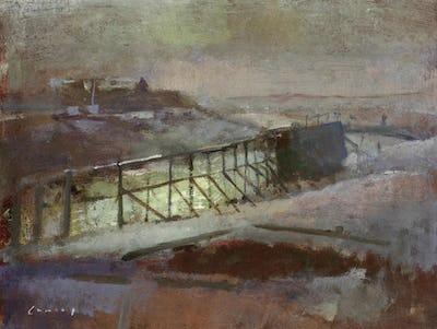 "Rye Harbour, 7"" × 9"""