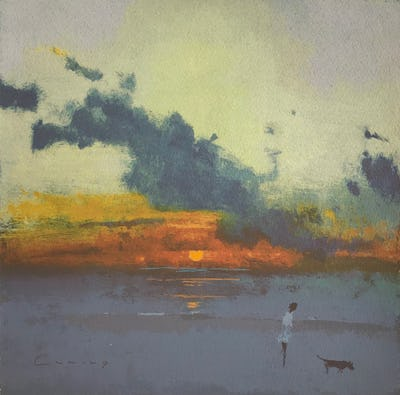 Sunset, Camber, 2010, Image and paper size: 30.25 x 30.25 cm