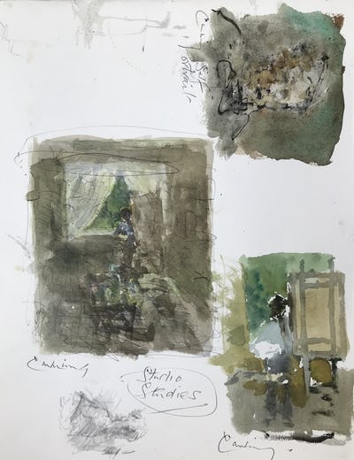Studio Studies and Self Portrait