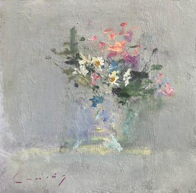 "Spring Flower Study, 8"" x 8"""