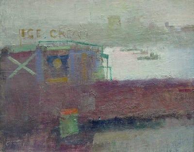 "Folkestone Harbour, 1978, 8"" × 10"""